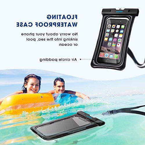 "Mpow Waterproof Floating, Universal Waterproof Case Underwater Compatible Galaxy s9/s8 Note Google Pixel up 6.5"""