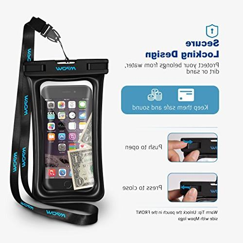 Mpow Waterproof Phone Floating, Case Dry Bag Compatible Galaxy s9/s8 Google
