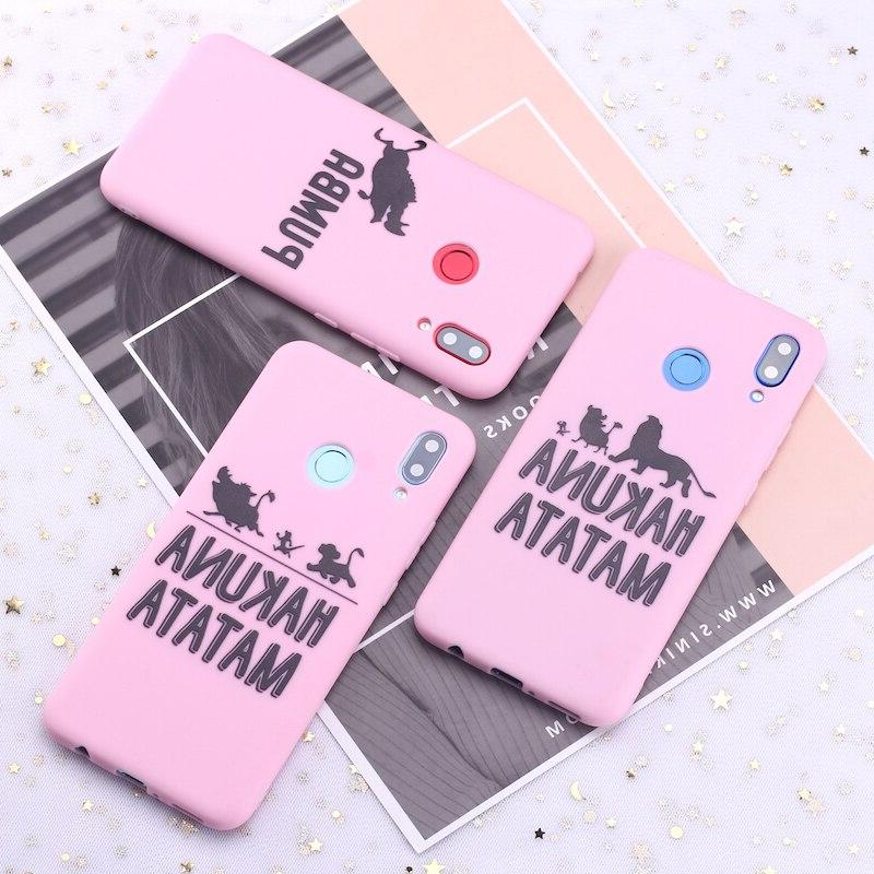 For S8 S10 Note 8 10 A8 Hakuna Matata Lion King Phone <font><b>Case</b></font> Capa Coque