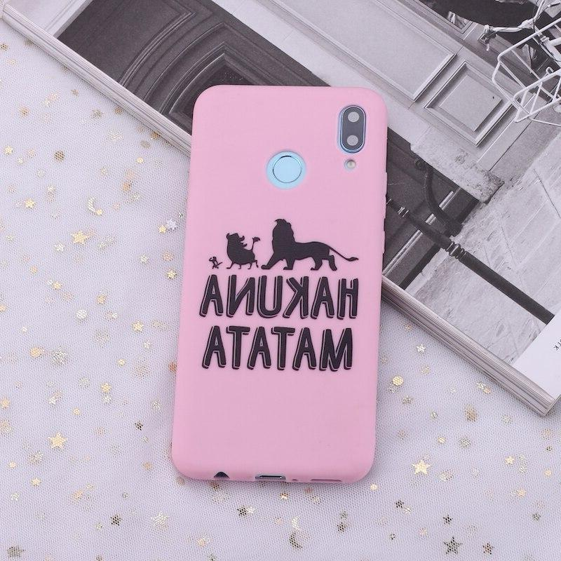 For S8 S10 S10e Plus 8 9 A8 Hakuna Lion King Silicone Phone <font><b>Case</b></font> Cover Coque