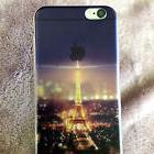 for iPhone 6 / 6S - Purple Paris Eiffel Tower Soft TPU Rubbe