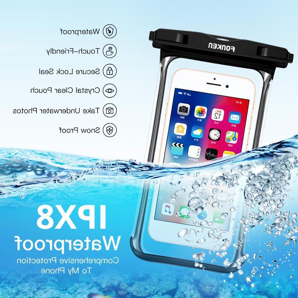 FONKEN <font><b>Case</b></font> Rainforest transparent <font><b>Cases</b></font> Underwater Mobile Phone Covers