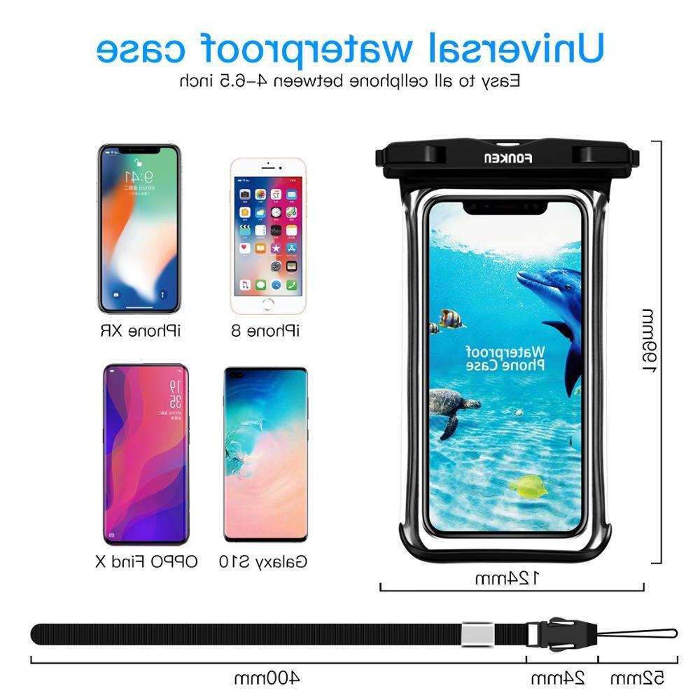 FONKEN Full View <font><b>Case</b></font> transparent <font><b>Cases</b></font> dry Underwater Swimming Phone