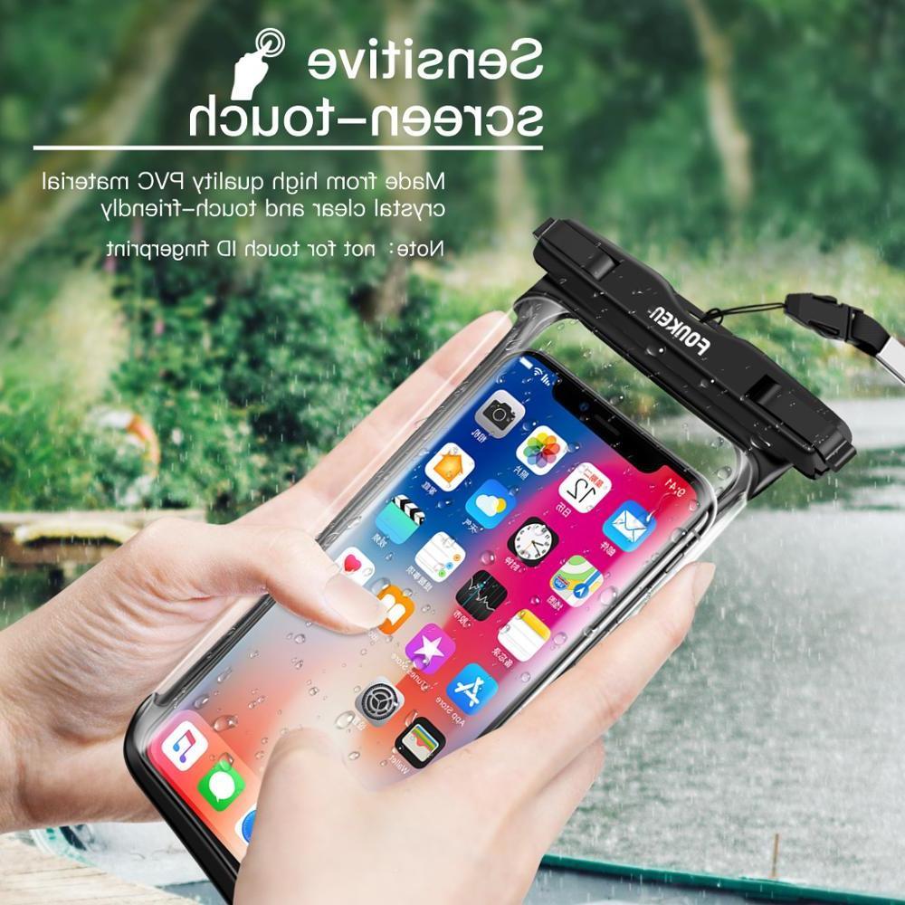 FONKEN Full View <font><b>Case</b></font> desert transparent Underwater Phone