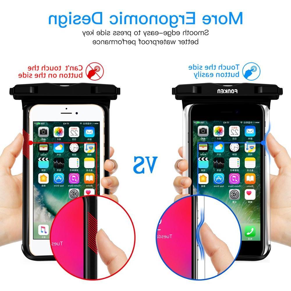 FONKEN <font><b>Waterproof</b></font> <font><b>Case</b></font> Rainforest transparent dry bag Underwater Pouch Mobile Phone