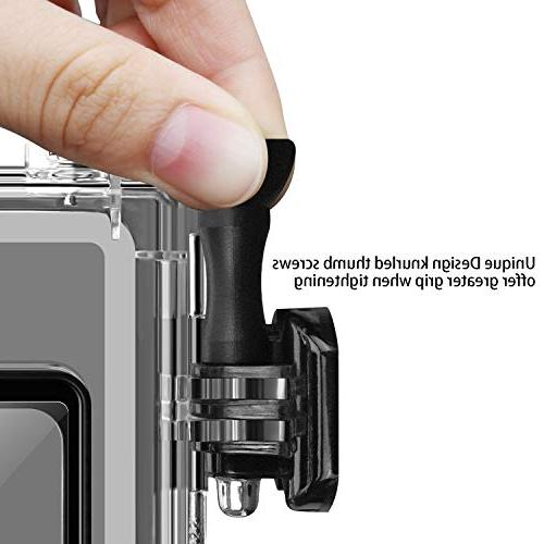 Acalantha Waterproof Case with Quick Release and to Photography, Dive GoPro Hero 5 6 7