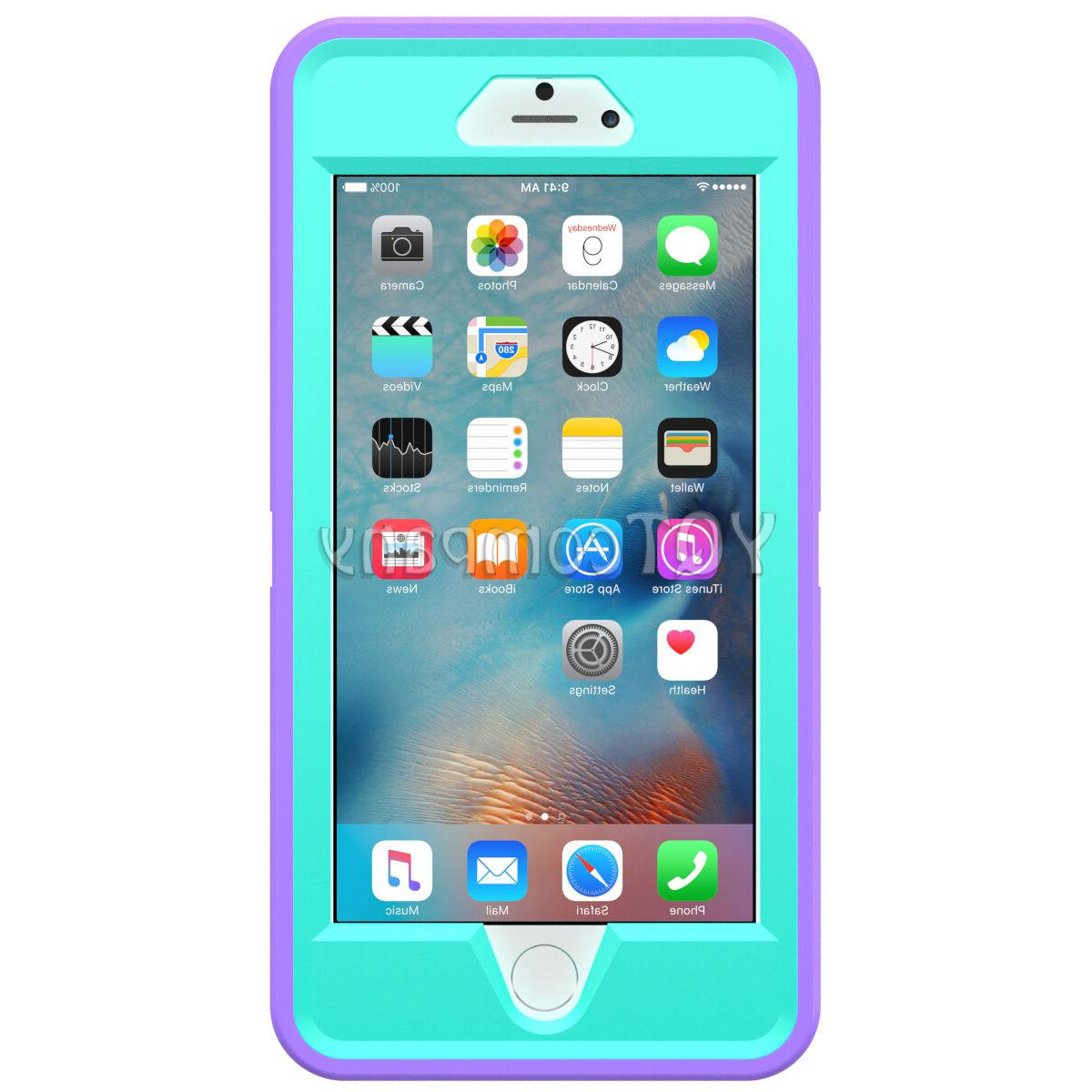 Hard Back Hybrid Case iPhone 5s 6s Plus