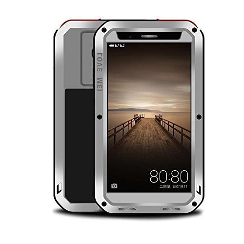 new styles 8e9e0 a5427 Huawei Mate 9 case,Feitenn Extreme Hybrid Armor case Alloy Aluminum Metal  Bumper Gorilla Glass Soft Rubber Military Heavy Duty Shockproof Hard Water  ...