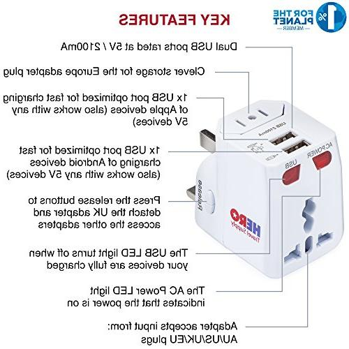 Universal - Power Plug Europe France Thailand China 100+ Tested in by Supply - White