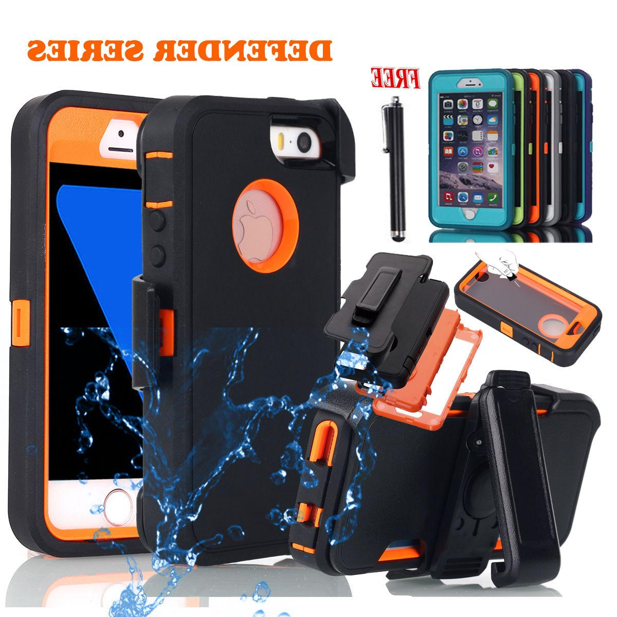 For iPhone 5 5s SE Rugged Shockproof Heavy Duty Hybrid Hard