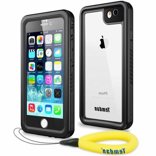 sale retailer a8b96 6f585 iPhone 6/6S Case, Clear Back Waterproof Shockproof Cover with Screen  Protector