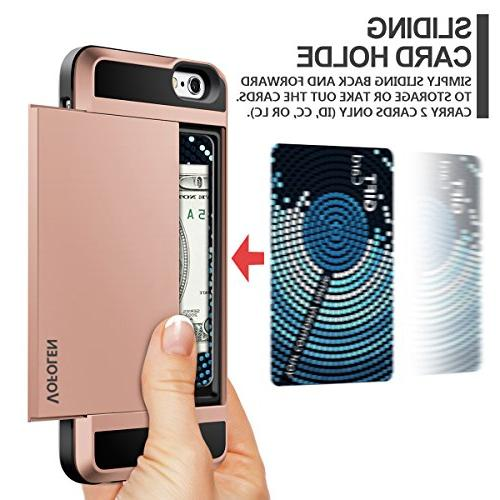 iPhone 6S Impact Resistant 6 Shell Shockproof Rugged Bumper Anti-Scratch Hard Cover Skin iPhone 6 6S Rose Gold