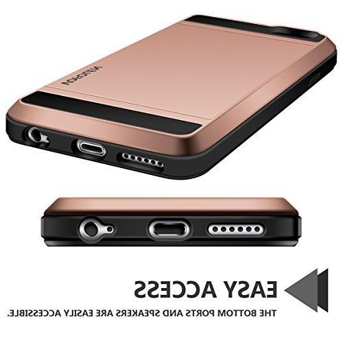 iPhone 6S Case, Impact Hybrid 6 Shell Shockproof Rugged Skin iPhone 6 Rose
