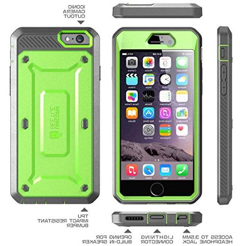 iPhone SUPCASE Belt Apple 6 Case 5.5 w/Built-in Screen Protector