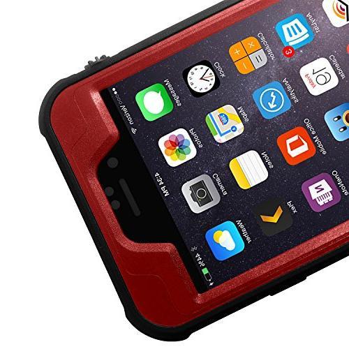 HESGI iPhone PLUS Waterproof Case, IP-68 Shockproof Snow Proof Protective Case iPhone 6S 6
