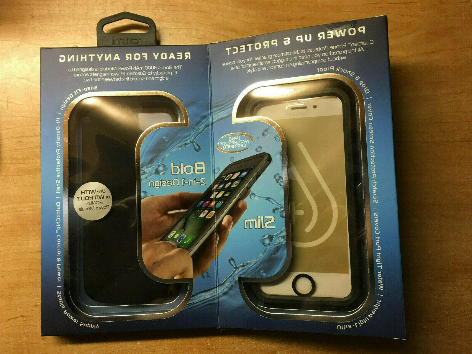 new concept f6d27 4e69f Tzumi iPhone 7 Waterproof Case & Guardian Power
