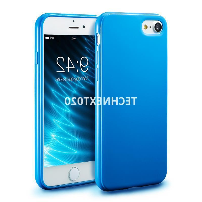 For 8 7 Plus Soft Shockproof Silicone Gel Rubber TPU