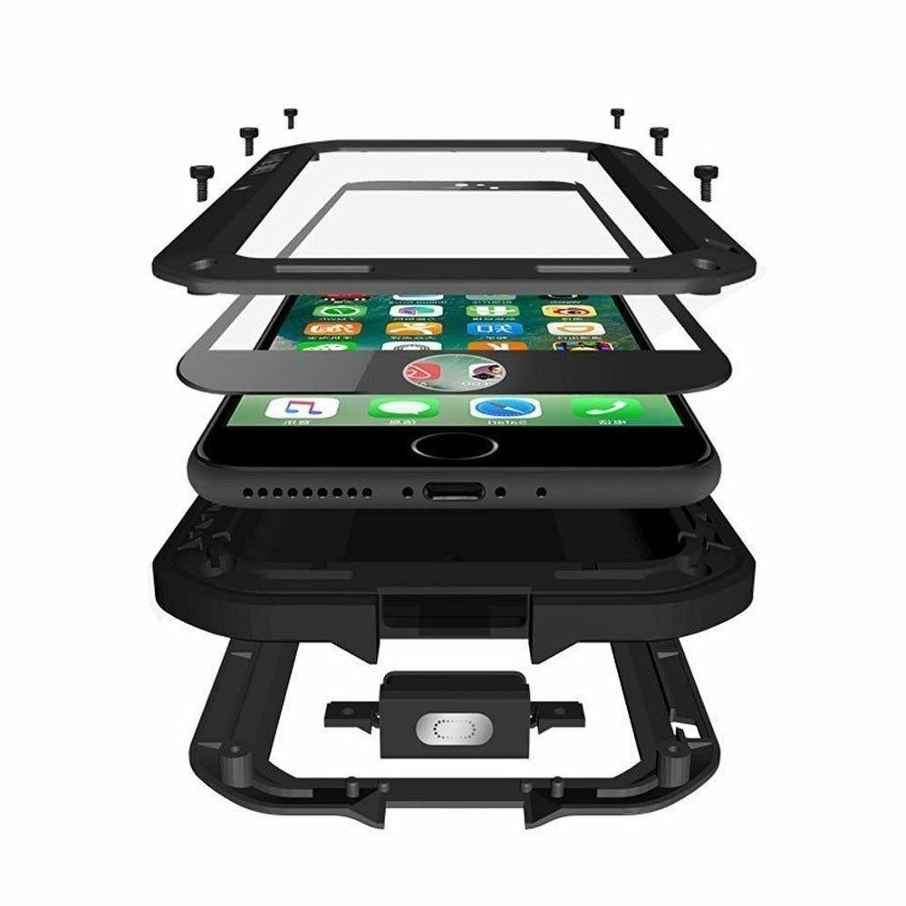 iPhone 8 Plus Case Full Body Shockproof Waterproof Aluminum