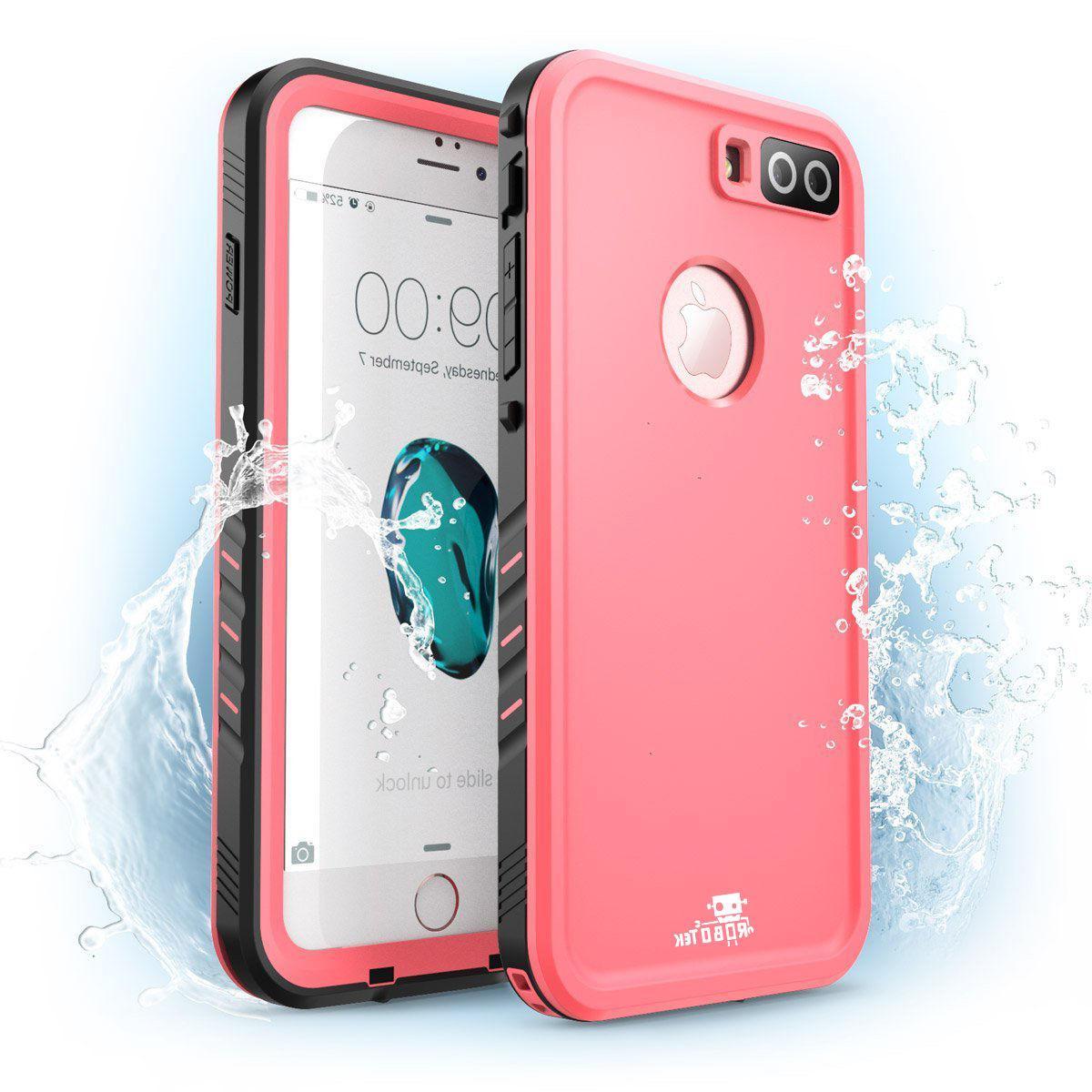 Robotek iPhone 8 Plus Waterproof Full-body Case with Built-i