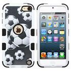 iPod Touch 5th / 6th Gen - SOCCER BALL Armor Impact Hybrid H