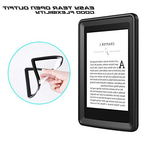 Temdan Kindle Paperwhite Waterproof Case Rugged Sleek Transparent Cover with Built in Screen Protector Case for Kindle Paperwhite.