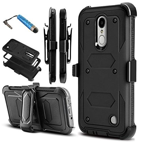 sale retailer 077ed f3cdd LG Aristo/Aristo 2/LV3 2018/LG K8 2017/LG Phoenix 3 4 LG Fortune 2 Case,  Rugged Dual-Layer Armor Drop Protection Case with Belt Swivel Clip Built-in  ...