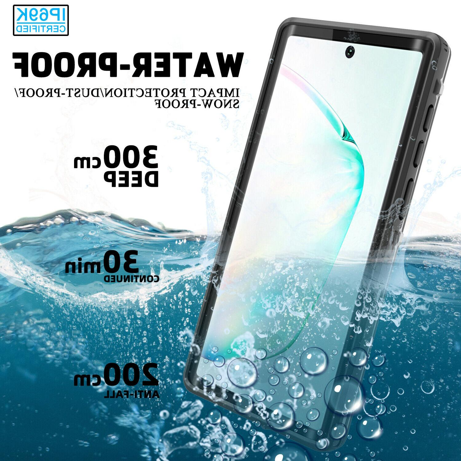 For Samsung Galaxy Note 10 Plus Waterproof Case Shockproof F