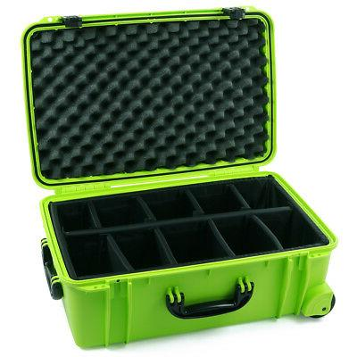 lime green se920 case with padded dividers