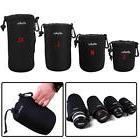 4 pcs Size XL L M S Matin Neoprene Soft Camera Lens Pouch Ba
