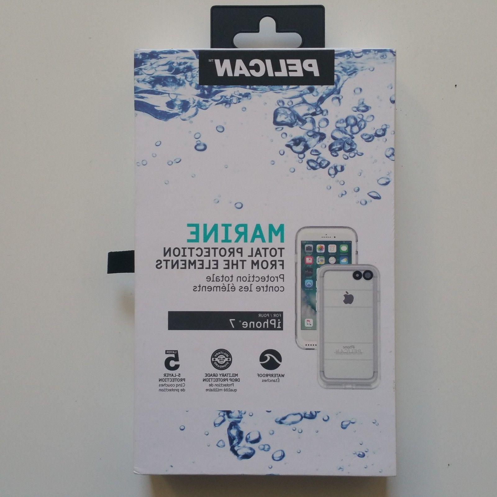Pelican Marine Waterproof iPhone 7 Case White/Clear Brand Ne