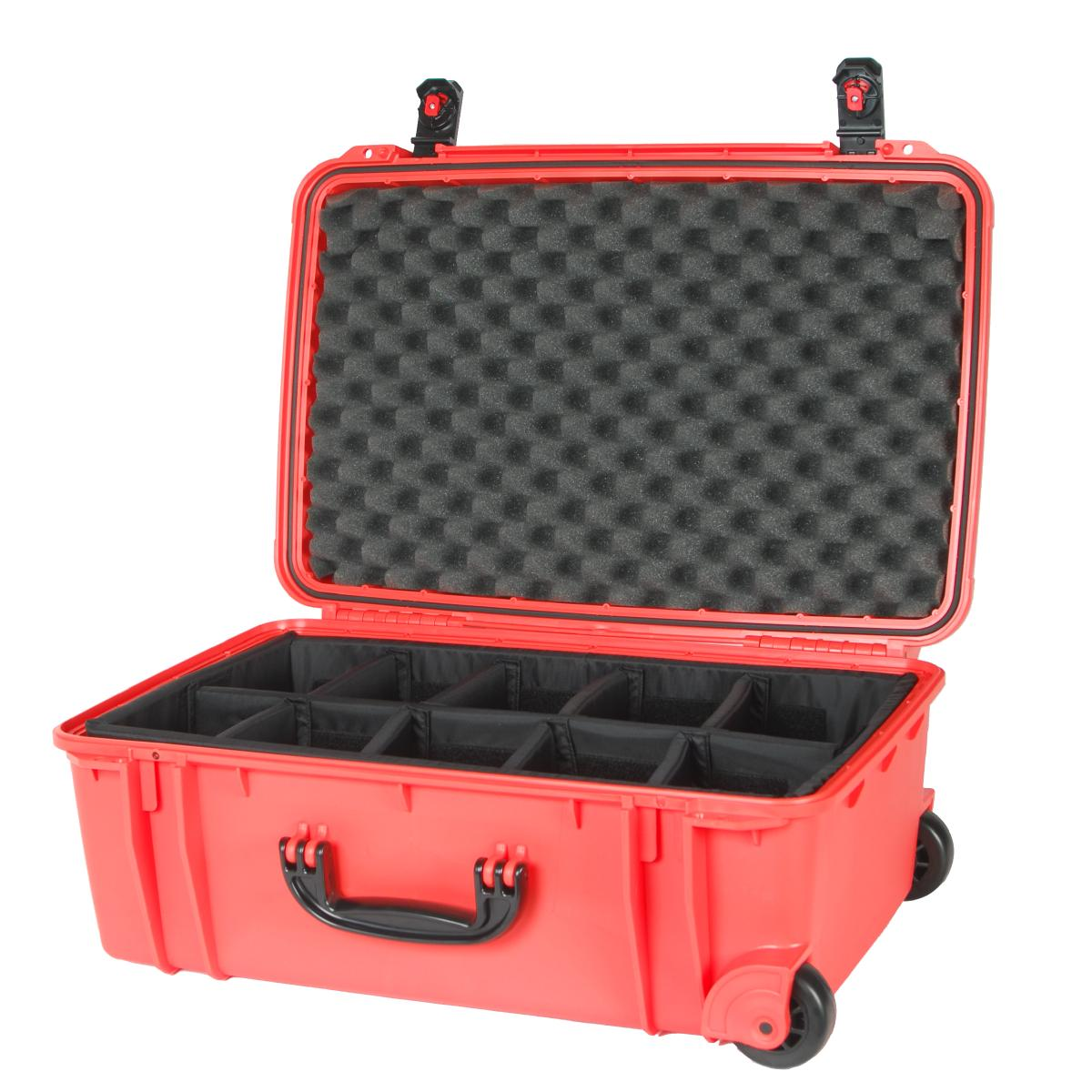 orange se920 case with dividers and pelican