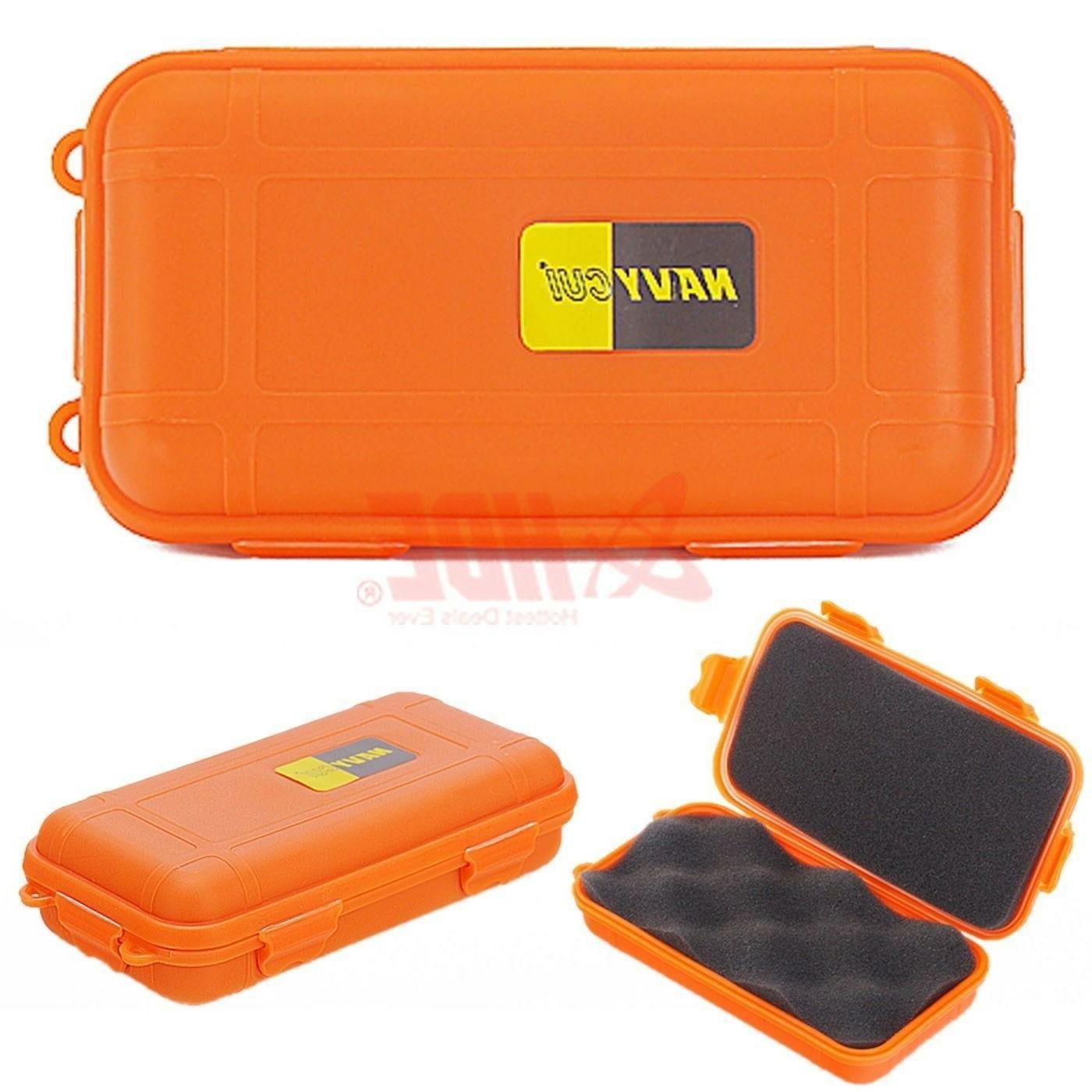 Orange Waterproof Box Valuables Outdoors Dry Case