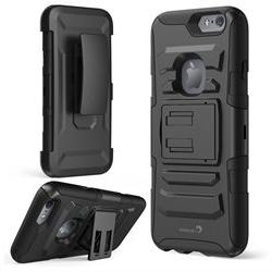 Prime Dual Layer Holster Case with Kick Stand for Apple iPho