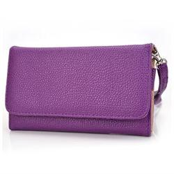Kroo Purple Wristlet Wallet with Pouch for Smartphone up to