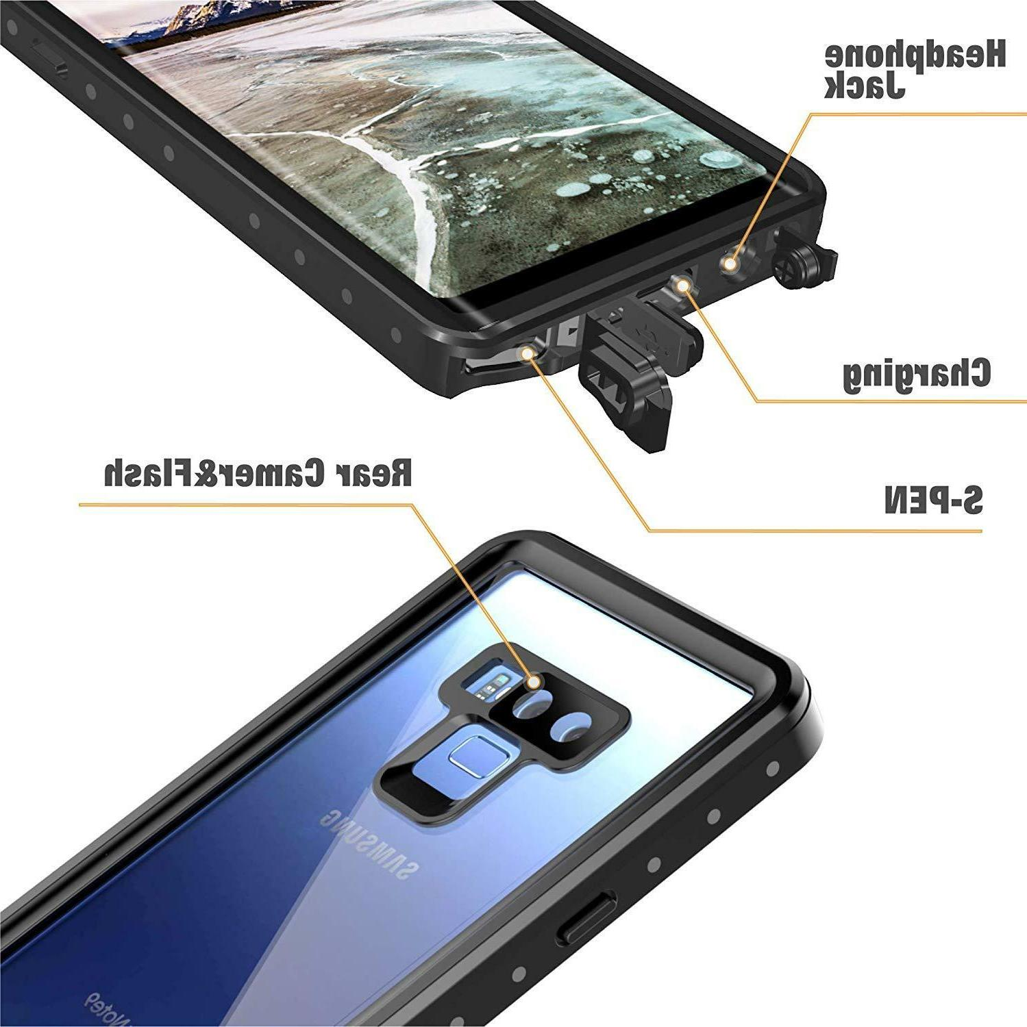 For Samsung Galaxy Note 9 Waterproof Case Shockproof