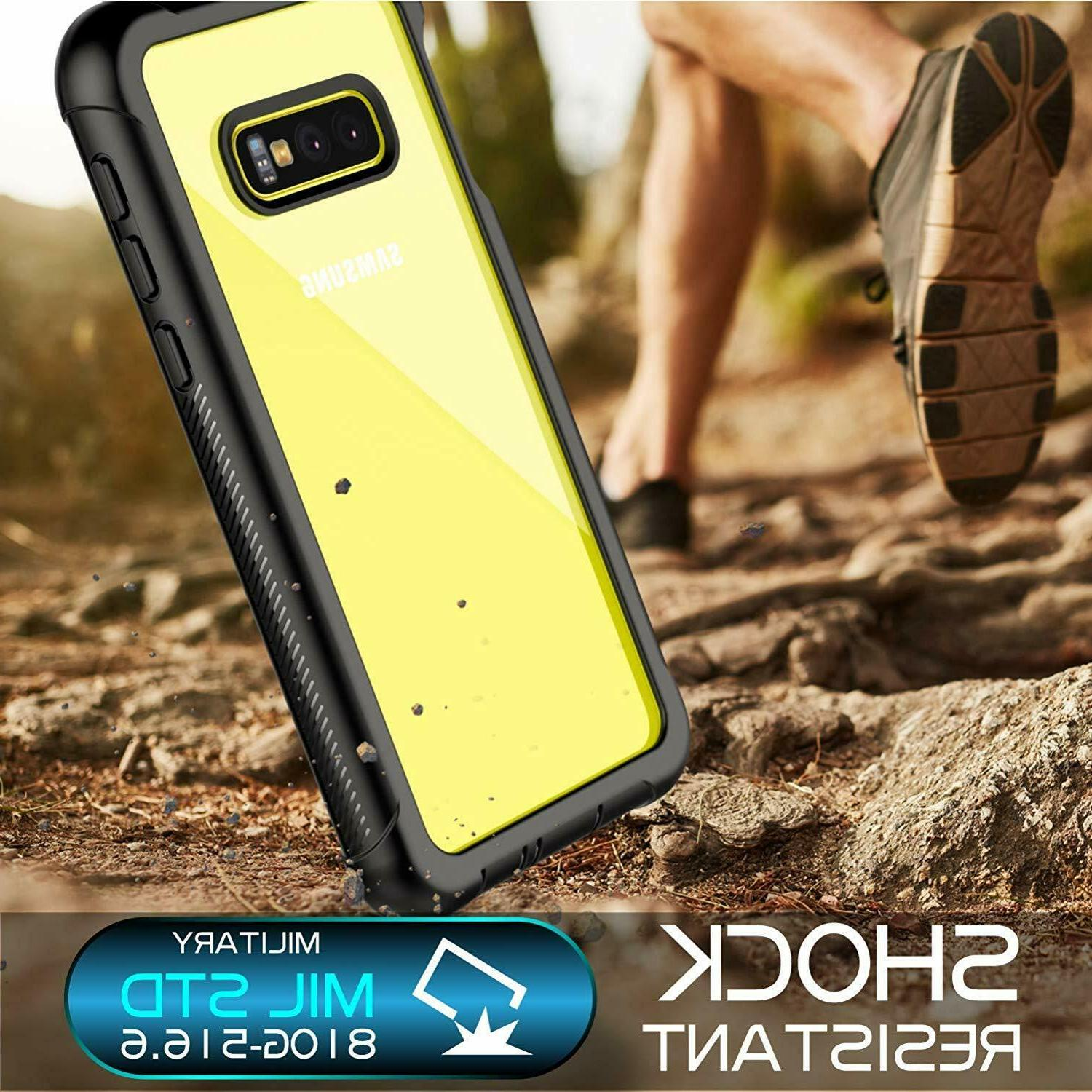 For S10 Plus Case Built-in Protector Waterproof