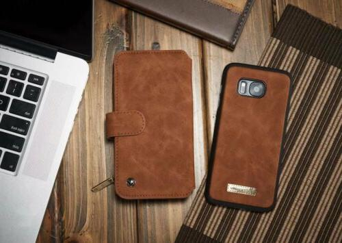 Edge Leather Removable Flip Card Phone Cover