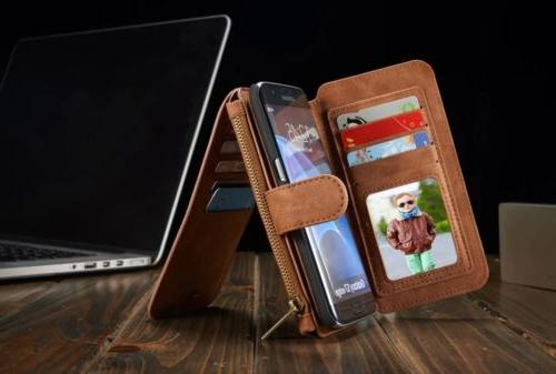 For Samsung Edge Leather Flip Card Cover
