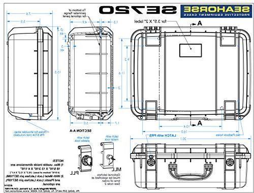 Seahorse SE540 Case Foam