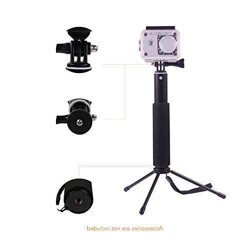 Apeman Stick Extendable Aluminum Perfectly Compatiable Cameras, Smartphones, Waterproof Cases