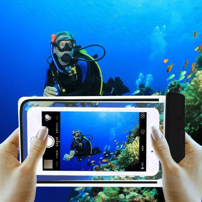 Sport Waterproof Underwater Phone Bag Luminous Glow Case