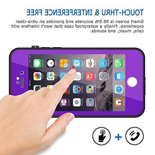 HESGI Thin Waterproof Case for Apple iPhone 7 - Purple