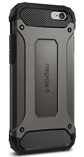 super popular db920 e9988 Spigen Tough Armor TECH iPhone 6S Case with Extreme Shock and Drop  Protection for Apple iPhone 6 / 6S - Gunmetal