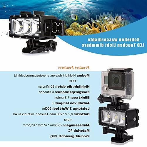 D&F Flash Light 40M 3 Built-in for SJCAM,SJ4000 Yi Other Camera