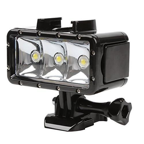 D&F Underwater Light 3 LED Dimmable Built-in for GoPro Hero SJCAM,SJ4000 Yi Other Camera