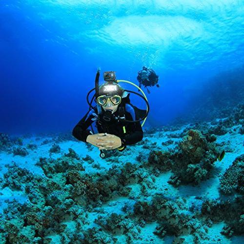 D&F Underwater Flash Diving Light 40M 3 LED Flashlight Built-in Rechargeable for GoPro Hero SJCAM,SJ4000 SJ5000 Yi & Other