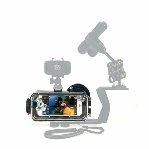 Underwater Waterproof Diving Case Fisheye Lens 7