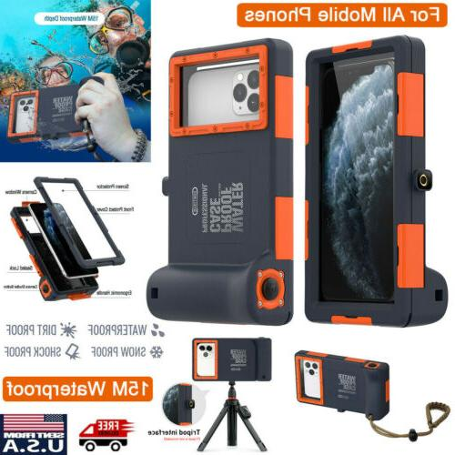 universal phone waterproof case underwater diving camera
