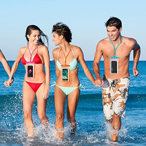 """4 Waterproof Case FITFORT Cell Phone Dry X 7 6S Edge/S6 Note4 LG Up to 5.5"""""""