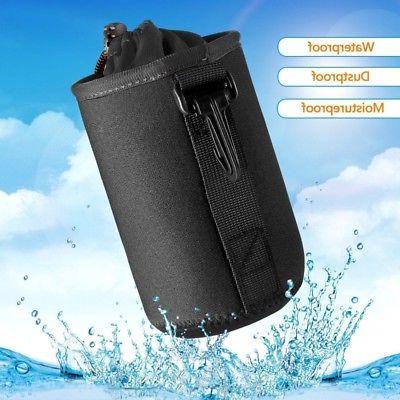 us black waterproof camera lens bag padded